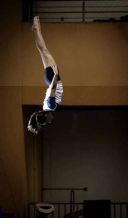 Belo Horizonte, 12 de agosto de 2010..Ensaio do Minas Tenis Clube, como formacao de novos atletas para as Olimpiadas de 2016...Na foto, detalhe do CT da ginastica olimpica...Foto: Bruno Magalhaes / Nitro