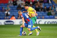 Picture by Paul Chesterton/Focus Images Ltd..26/7/11.Matt Parsons of Crystal Palace and Russel Martin of Norwich City during a pre season friendly at Selhurst Park stadium, London