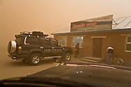 Mongolia. sand storm in  Hahorin -  / tempete de sable  Karakorum - Mongolie
