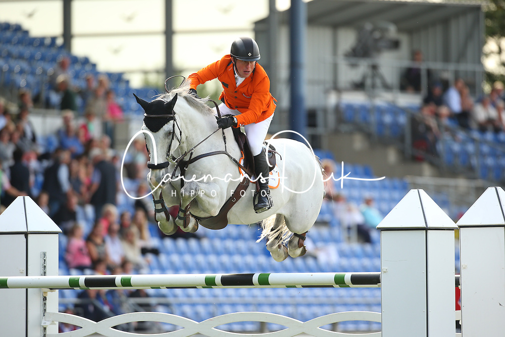 Schroder Gerco, (NED), Glocks Cognac Champblanc<br /> Team Competition round 1 and Individual Competition round 1<br /> FEI European Championships - Aachen 2015<br /> &copy; Hippo Foto - Stefan Lafrentz<br /> 19/08/15