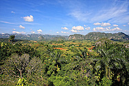 A popular look-out over the farms and mogotes near Vinales, Pinar del Rio, Cuba.