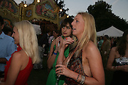 Carly Vincent and Caroline Casey, QUINTESSENTIALLY AND ELEPHANT FAMILY TRUNK SHOW PARTY. SERPENTINE PAVILION, HYDE PARK. 16 SEPTEMBER 2007. -DO NOT ARCHIVE-© Copyright Photograph by Dafydd Jones. 248 Clapham Rd. London SW9 0PZ. Tel 0207 820 0771. www.dafjones.com.