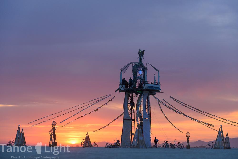 The Burning Man Project in the Black Rock Desert near Gerlach, Nevada, 2016.