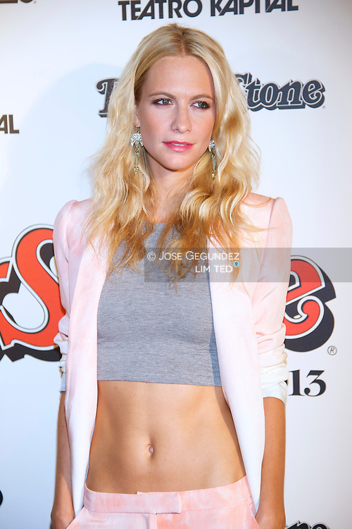 Poppy Delevingne attends Rolling Stone awards 2013 at Teatro Kapital disco on November 28, 2013 in Madrid, Spain.