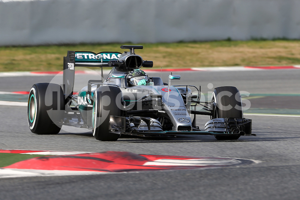 Nico Rosberg of Mercedes during the Formula 1 Pre Season Testing 2016 at  at Circuit de Barcelona-Catalunya, Barcelona, Spain on 23 February 2016. Photo by sync studio.