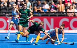 Argentina's Julieta Jankunas shoots for goal
