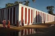 The Nallur Kandasamy festival in Jaffna, surrounded by a high red & white wall. The annual festival is in July or August.<br /> Sri Lanka.