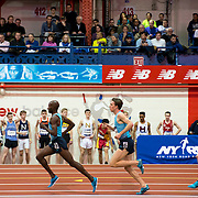 February 15, 2014 - New York, NY : <br /> Athletes including Bernard Lagat, left, compete in the Paavo Nurmi Men's 2,000M Run (Elite) during the 2014 NYRR Millrose Games at the The New Balance Track & Field Center at The Armory in Washington Heights, Manhattan, on Saturday afternoon.<br /> CREDIT: Karsten Moran for The New York Times