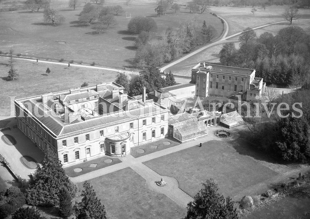 A371 St Joseph's, Ballinasloe.   18/11/55 (Part of the Independent Newspapers Ireland/NLI collection.)<br /> <br /> <br /> These aerial views of Ireland from the Morgan Collection were taken during the mid-1950's, comprising medium and low altitude black-and-white birds-eye views of places and events, many of which were commissioned by clients. From 1951 to 1958 a different aerial picture was published each Friday in the Irish Independent in a series called, 'Views from the Air'.