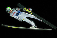 Peter Prevc of Slovenia competes during FIS World Cup Ski Jumping competition in Wisla, Poland on January 16, 2014.<br /> <br /> Poland, Wisla, January 16, 2014.<br /> <br /> Picture also available in RAW (NEF) or TIFF format on special request.<br /> <br /> For editorial use only. Any commercial or promotional use requires permission.<br /> <br /> Mandatory credit:<br /> Photo by © Adam Nurkiewicz / Mediasport
