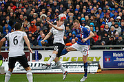 Everton defender Seamus Coleman  defends the cross during the The FA Cup fourth round match between Carlisle United and Everton at Brunton Park, Carlisle, England on 31 January 2016. Photo by Craig McAllister.