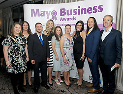 Staff from Col&aacute;iste UISCE attending the 2018 Mayo Buisness Awards at the Broadhaven Hotel recently.<br />