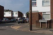 London, England, UK, May 28 2018 - Corner of Lambscroft Avenue and Charlesfield street, South East London (SE9).  On 24 February 2017, 21-year-old Dean Pascal-Modeste and one of his friend was threatened with a gun by a group of males on Lambscroft Avenue, before Dean Pascal-Modeste run to Charlesfield street and was stabbled to death. He could have been the victim of a gang feud played out in YouTube videos of drill music.