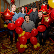 13.02.2018.<br /> University of Limerick International Office Chinese New Year Celebrations, Chungs Chinese Cuisne Castletroy. <br />  Pictured at the event were UL International students, Edward Li, Kaiyi Qin, Liyuan Guo, Rui Yuan and Rui Shi. Picture: Alan Place