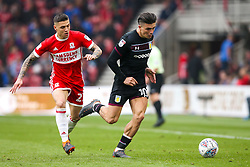 Jack Grealish of Aston Villa goes past Muhamed Besic of Middlesbrough - Mandatory by-line: Robbie Stephenson/JMP - 12/05/2018 - FOOTBALL - Riverside Stadium - Middlesbrough, England - Middlesbrough v Aston Villa - Sky Bet Championship