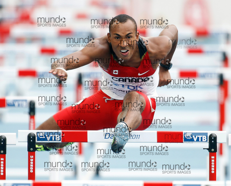 Damian  Warner  of Canada competes in the decathlon at the 13th IAAF World Track & Field Championships in Daegu, South Korea,  September 27, 2011..Claus Andersen/Claus Andersen.