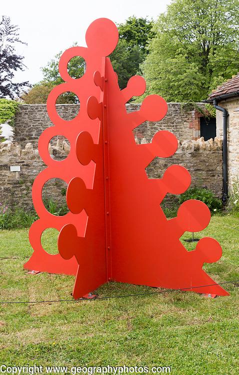 Hauser and Wirth art gallery, restaurant and garden, Durslade Farm, Bruton, Somerset, England, UK  'Gui' sculpture Alexander Calder 1976