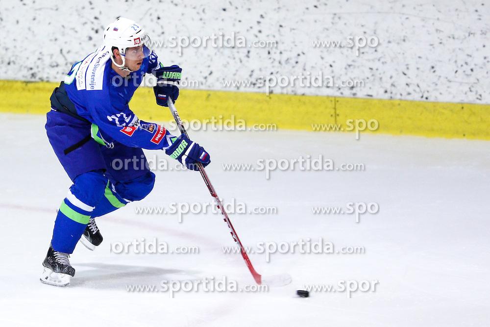Luka Vidmar of Slovenia during friendly ice hockey match between Slovenia and Croatia, on April 12, 2016 in Ledena dvorana, Bled, Slovenia. Photo By Matic Klansek Velej / Sportida