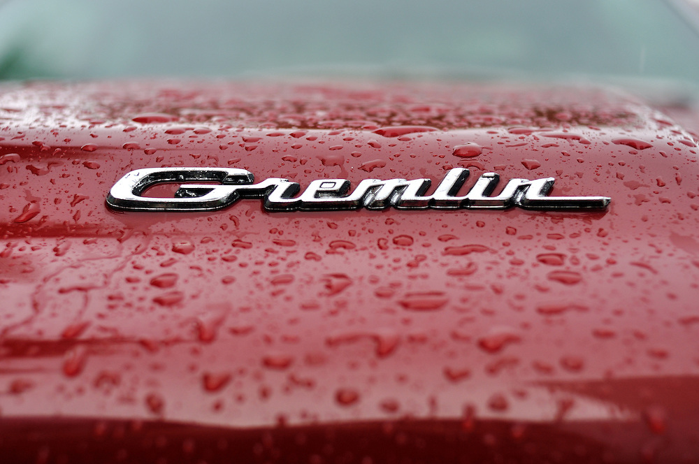 Gremlin Red. A Gremlin sits parked on a rainy day in St. Petersburg, FL.