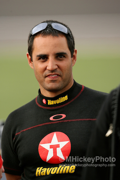 Juan Pablo Montoya seen during practice for the UAW Daimler Chrysler 400 at the Las Vegas Motor Speedway.