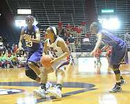 "Ole Miss' Shantell Black (11) vs. LSU's Allison Hightower (23) on Sunday, January 17, 2010 at the C.M. ""Tad"" Smith Coliseum in Oxford, Miss. Ole Miss won 80-71."