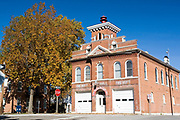 Missouri MO USA, Fire department and city hall of Hermann, MO