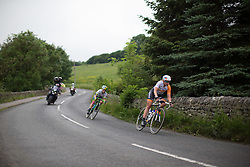 Roxanne Knetemann (NED) of Rabo-Liv Cycling Team tackles a fast descent during the Aviva Women's Tour 2016 - Stage 3. A 109.6 km road race from Ashbourne to Chesterfield, UK on June 17th 2016.