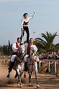 Sardegna, Italy. Sant'Anticoco, Sulcis, provincia di Carbonia-Iglesias. Festa di Sant'Antioco, patrono della Sardegna. La pariglia di Dolianova.