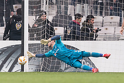 goalkeeper Loris Sven Karius of Besiktas JK during the UEFA Europa League group I match between between Besiktas AS and Malmo FF at the Besiktas Park on December 13, 2018 in Istanbul, Turkey