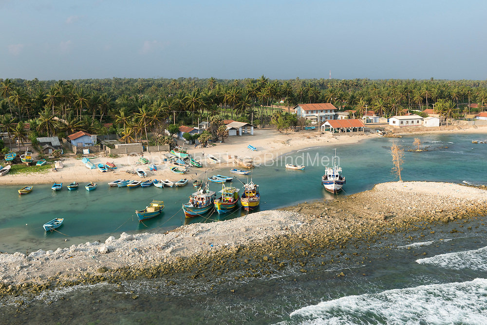 Fishing harbour on North coast of the Jaffna Peninsula.