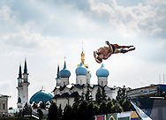 Training Session<br /> FINA High Diving World Cup 2014<br /> Kazan Tatartsan Russsia RUS Aug. 8 to 10 2014<br /> Kazanka River  Day00 - Aug.7 <br /> Photo G. Scala/Deepbluemedia