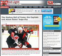 NHL Practice photos of Adam Oates assistant coaching the New Jersey Devils before being hired as head coach in Washington.  Published on SI.com