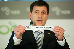 Ales Zavrl of NZS with paper NK Olimpija Ljubljana during NZS Draw for season 2015/16 on June 23, 2015 in Brdo pri Kranju, Slovenia. Photo by Vid Ponikvar / Sportida