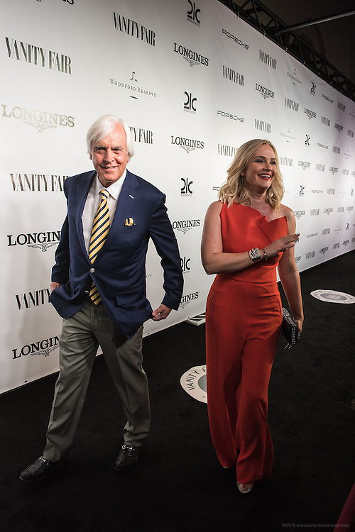 Trainer Bob Baffert and his wife Jill are seen on the black carpet at the Vanity Fair Derby party at 21c Museum Hotel. May 6, 2016