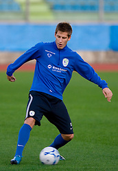 Valter Birsa of Slovenian National football team at practice a day before the last 2010 FIFA Qualifications match between San Marino and Slovenia, on October 13, 2009, in Olimpico Stadium, Serravalle, San Marino.  (Photo by Vid Ponikvar / Sportida)