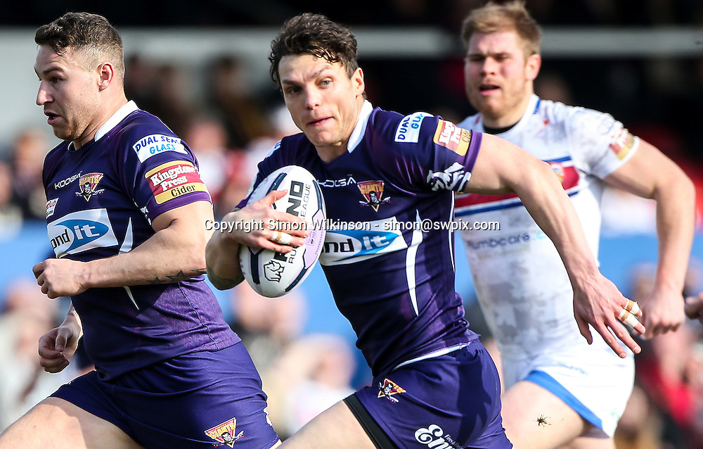Picture by Alex Whitehead/SWpix.com - 22/03/2015 - Rugby League - First Utility Super League - Wakefield Trinity Wildcats v Huddersfield Giants - Rapid Solicitors Stadium, Wakefield, England - Huddersfield's Scott Grix in action.