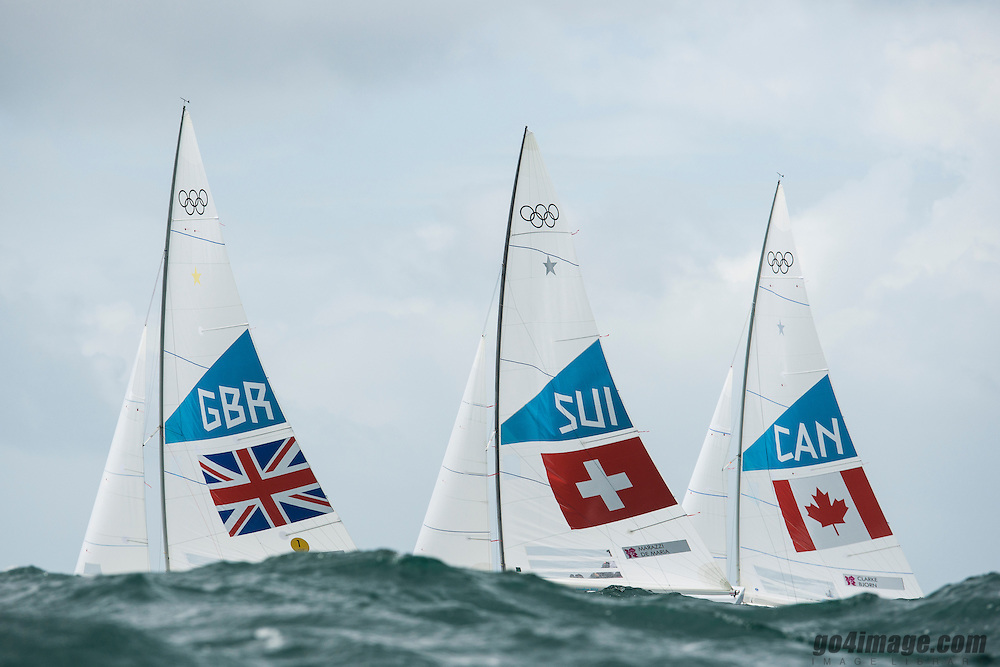 2012 Olympic Games London / Weymouth<br /> <br /> Percy Iain, Simpson Andrew, (GBR, Star)<br /> Marazzi Flavio, De Maria Enrico, (SUI, Star)<br /> Clarke Richard, Bjorn Tyler, (CAN, Star)