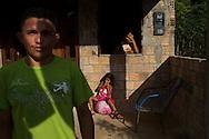 Junco do Maranhao, Brazil, June 26 of 2013:  Bolsa Familia em Junco do Maranhao. Reurinaldo Feitosa Silva, 29 anos, com a mulher Ana Neire da Silva, 23 anos e a filha Ana Heloisa, 4 anos. (photo: Caio Guatelli)