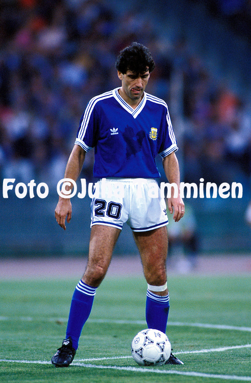 FIFA World Cup - Italia 1990<br /> Stadio Olimpico, Rome, Italy.<br /> Final Argentina v West Germany.<br /> Juan Simon - Argentina