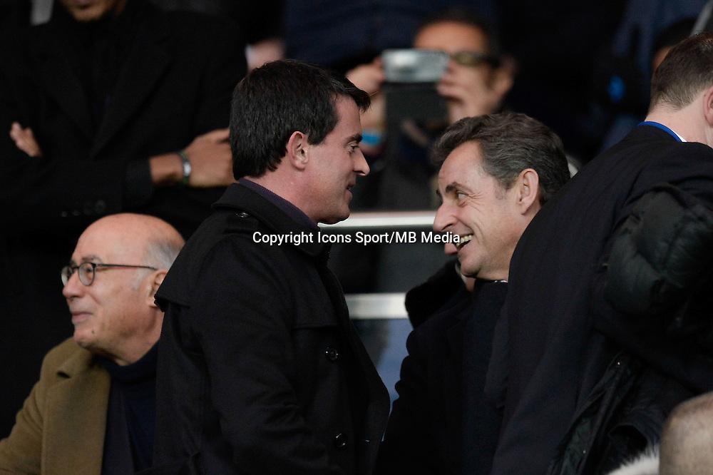 Manuel VALLS / Nicolas SARKOZY - 20.12.2014 - Paris Saint Germain / Montpellier - 17eme journee de Ligue 1 -<br />Photo : Aurelien Meunier / Icon Sport