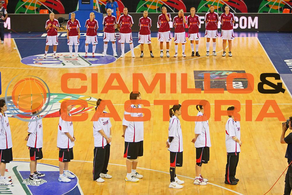 DESCRIZIONE : Madrid 2008 Fiba Olympic Qualifying Tournament For Women Latvia Japan <br /> GIOCATORE : Inno Nazionale National Atnhem <br /> SQUADRA : Japan Giappone <br /> EVENTO : 2008 Fiba Olympic Qualifying Tournament For Women <br /> GARA : Latvia Japan Lettonia Giappone <br /> DATA : 11/06/2008 <br /> CATEGORIA : <br /> SPORT : Pallacanestro <br /> AUTORE : Agenzia Ciamillo-Castoria/S.Silvestri <br /> Galleria : 2008 Fiba Olympic Qualifying Tournament For Women <br /> Fotonotizia : Madrid 2008 Fiba Olympic Qualifying Tournament For Women Latvia Japan <br /> Predefinita :
