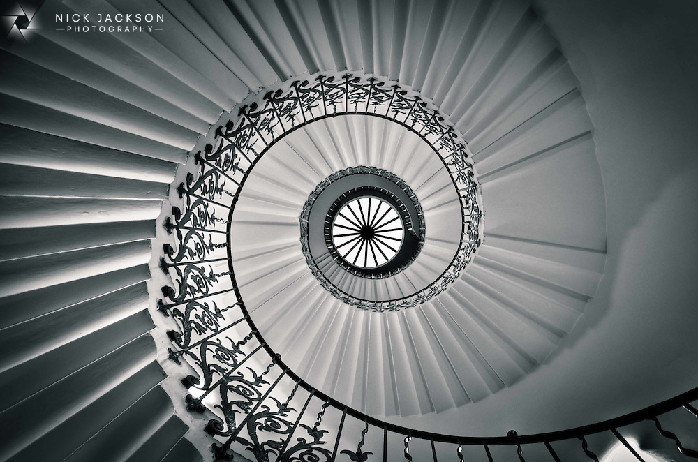 The Tulip Staircase in The Queen's House, Greenwich, was the first self supporting spiral staircase in the world.