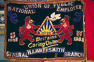 National Union of Public Employees Hammersmith General branch banner ....