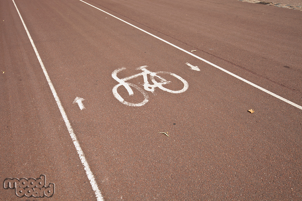 Sign of bicycle parking on street