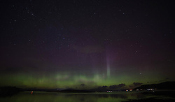 The Northern Lights (Aurora Borealis) made for a spectacular light show over Loch Linnhe near Oban on the west coast of Scotland...... (c) Stephen Lawson | Edinburgh Elite media