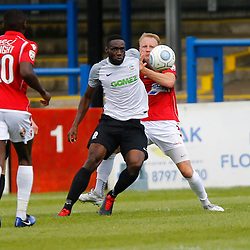 AUGUST 12:  Dover Athletic against Wrexham in Conference Premier at Crabble Stadium in Dover, England. Dover's defender Manny Parry looks to control the ball. (Photo by Matt Bristow/mattbristow.net)