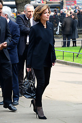 Natasha Kaplinsky attends Tony Benn's funeral at St Margaret's Church, Central London, London, United Kingdom. Thursday, 27th March 2014. Picture by Nils Jorgensen / i-Images