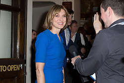 © Licensed to London News Pictures. 18/06/2015. London, UK. Fiona Bruce arrives at the press night for 1984 at the Playhouse Theatre, Northumberland Avenue in London tonight. Photo credit : Vickie Flores/LNP