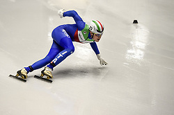 February 8, 2019 - Torino, Italia - Foto LaPresse/Nicolò Campo .8/02/2019 Torino (Italia) .Sport.ISU World Cup Short Track Torino - 5000 meter Men Relay Quarterfinals.Nella foto: Tommaso Dotti..Photo LaPresse/Nicolò Campo .February 8, 2019 Turin (Italy) .Sport.ISU World Cup Short Track Turin - 5000 meter Men Relay Quarterfinals.In the picture: Tommaso Dotti (Credit Image: © Nicolò Campo/Lapresse via ZUMA Press)
