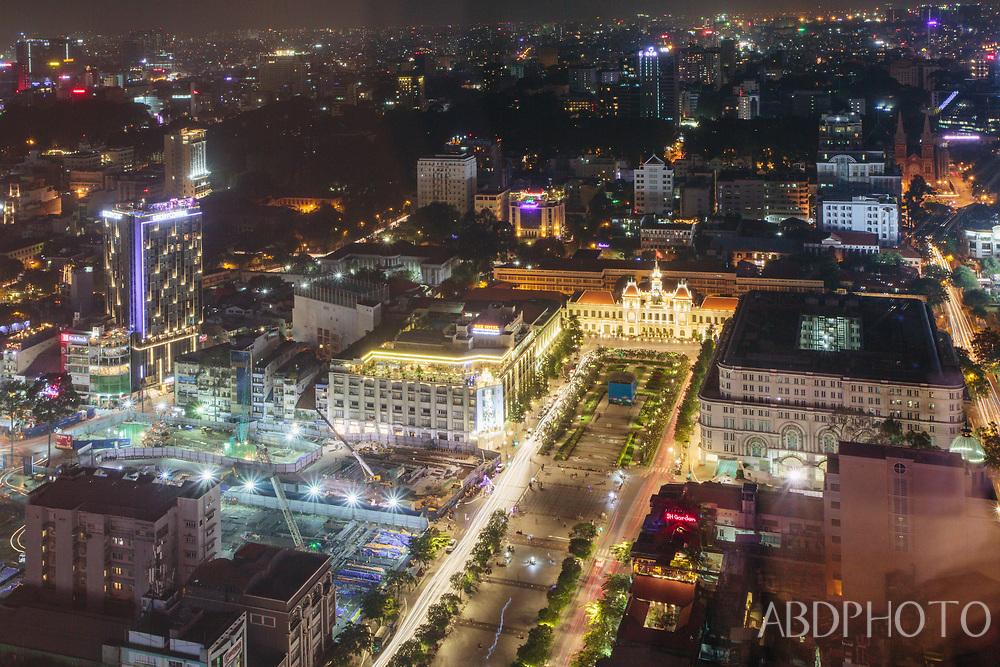 ho chi minh city (HCMC) Saigon, Sài Gòn, Vietnam People's Committee Building, walking street nguyen hue